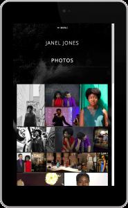 Janel Jones on a Tablet